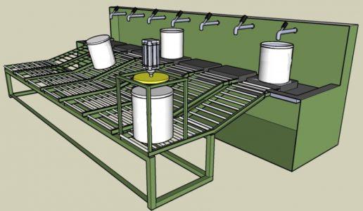 Envazadora de produtos quimicos e tintas